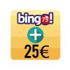 En bingo 75, sumamos 25€ a los bingos de 16ha 18h